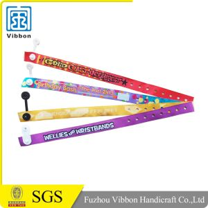 Recycled Plastic Clip Woven Thin Wristband