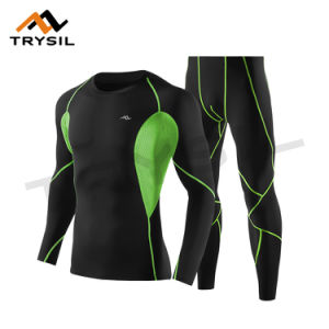 Men Long Sport Wear Suit Shirt and Legging for Gym pictures & photos