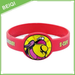 Promotional Custom Logo Printing Silicone Wristband Watch pictures & photos