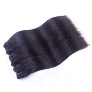 "Whole Brazilian Human Hair 100% Human Hair Weaving Yaki18"" Black Color pictures & photos"