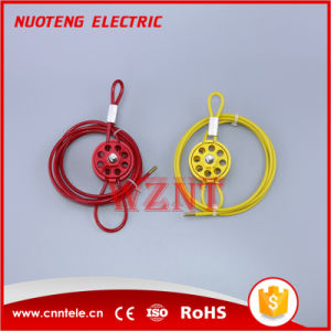 Round Multipurpose Cable Lockout 8 Holes with Loop in Red Yellow Green Color pictures & photos