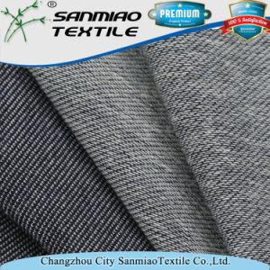 Indigo 20s Spandex Twill Knit Denim Fabric pictures & photos