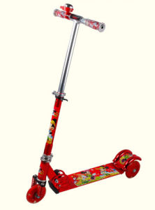 Factory Kids Toys Classical Kids Scooter with Flashing Tyre/Toy Ride on Foot Scooter 3 Wheel Kids Scooter/OEM Scooters for Kids pictures & photos