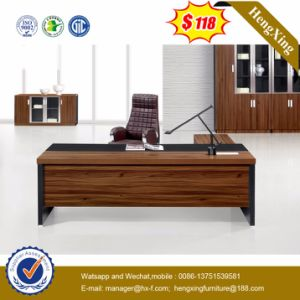 Side Extension Table Attached Walnut Melamine Office Desk (HX-5DE210) pictures & photos