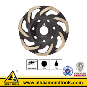 Superior Quality Boomerang Diamond Grinding Wheels for Concrete and Stone pictures & photos