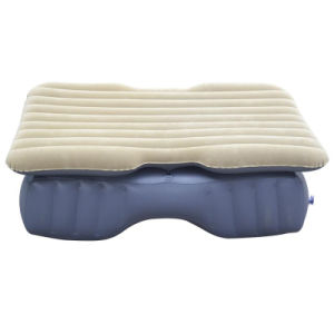 Split Type Flocked PVC Inflatable Car Mattress Without Safety Wall pictures & photos