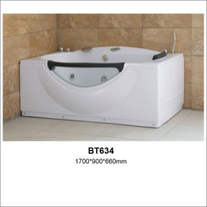 Factory Direct Sale ABS Rectangle Whirlpool Bathtub pictures & photos