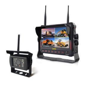 "7"" DVR Monitor with Quad Split Screen Supports SD Card for Recording pictures & photos"