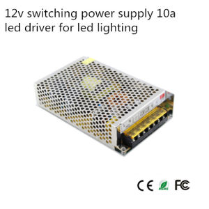 Hot Sale 12V 10A Switching Power Supply DC 12V LED Power Supply (S-120-120) pictures & photos