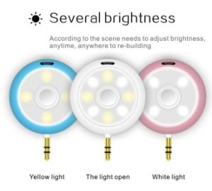 2017 New Products 2-in-1 LED Selfie Light Beautify Photos Portable Mini Speaker with 6 Brightness Modes Cold and Warm Fill Light pictures & photos