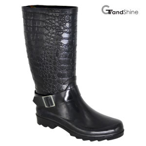 Women′s Rubber Riding High Rainboot