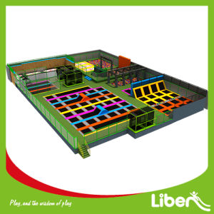 Large Indoor Trampoline Park Design with Ninja Course, Large Foam Pit Trampoline Park pictures & photos