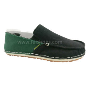 New Style fashion Men′s Slip on Leisure Shoes Stitches Canvas Shoes (MB9011) pictures & photos
