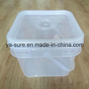 Hot Sale Food Grade Square Plastic Bucket for Ice Cream 5L pictures & photos