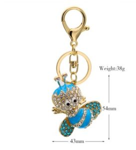 Diamond Bee Key Chain Auto Hang Gifts Alloy Key Ring pictures & photos