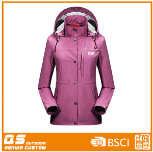 Windproof Long Sleeve Sports Hodded Jacket for Women pictures & photos