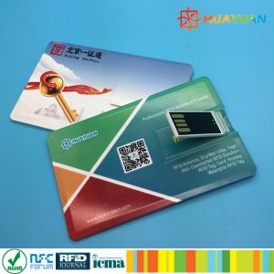 MIFARE DESFire EV1 2K RFID USB Business Card Flash Drives pictures & photos