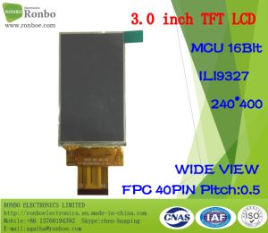 "3.0"" 240X400 MCU TFT LCD Module, Ili9327, 40pin for POS, Doorbell, Medical pictures & photos"