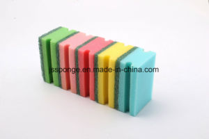 Colorful Kitchen Cleaning Sponge Scouring Pad pictures & photos