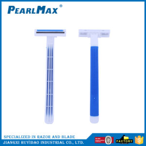 Plastic Handle Two Blade Safety Shaving Razor pictures & photos