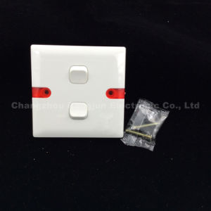 ABS Copper Material 2 Gang 1way or 2way Switch (WS621) pictures & photos