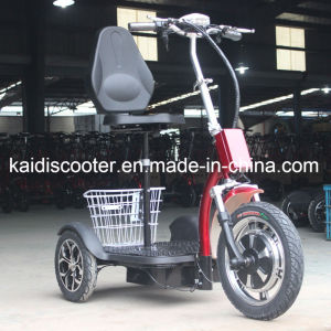 Foldable 3 Wheels Electric Sightseeing Vehicle Mobility Electric Bike 500W pictures & photos