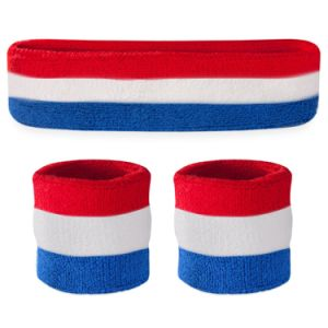 Custom China Supplier Rainbow Color Sweatband in High Quality pictures & photos