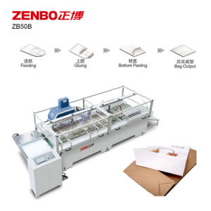 Sheet-Feeding Paper Bag Bottom Gluing Machine with Hot Glue (ZB50B) pictures & photos