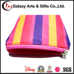 Women′s Mini 450d Polyester Small Striped Clutch Coin Purse Bag with Zipper pictures & photos