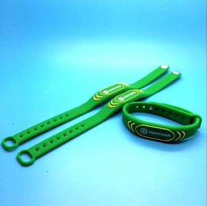 POS cashless payment RFID MIFARE DESFire 2K RFID wristband bracelet pictures & photos