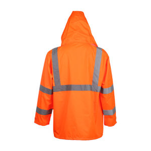 Class3 100% Polyester Reflective Safety Jacket Raincoat pictures & photos