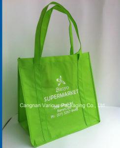 Recycle Non Woven Bag in Green Color pictures & photos