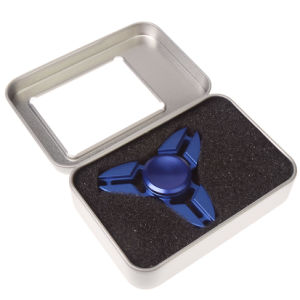 Tri-Spinner Aluminum Alloy Fidget Toy Blue Metal Hand Spinner pictures & photos