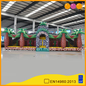 Giant Dinosaur Inflatable Fun Playground Amusement Park Frozen Bounce House for Kids Play (AQ01636-1) pictures & photos