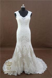Long Elegant Vintage Cap Sleeve Mermaid Wedding Dresses Wedding Gown Sexy Bridal Gown