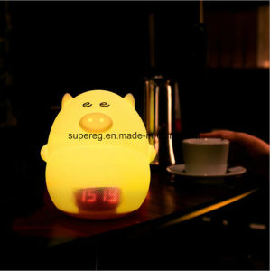 LED Silicone Pig Alarm Clock Lamp Light pictures & photos