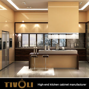 Luxury European design High End White Kitchen Cabinet with Finger Pull Design Tivo-0031h pictures & photos