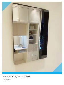 High Transparent Smart Glass Magic Mirror Glass with Good Quality (S-F7) pictures & photos