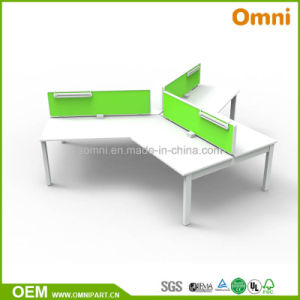 Three Person 120 Degree Modern Office Furniture Table pictures & photos