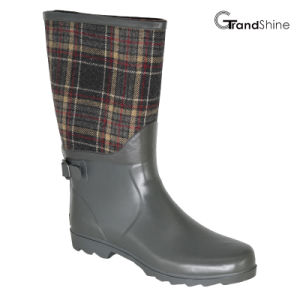 Wellie Rubber Rainboot with Decorative Strap