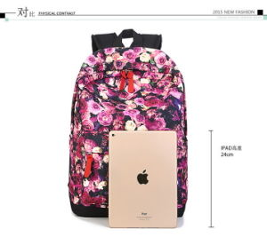 2016 New Retro College Wind Bag Rose Printing Backpack Backpack pictures & photos