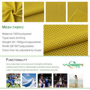 Polyester Mesh Fabric for Sports Garments pictures & photos