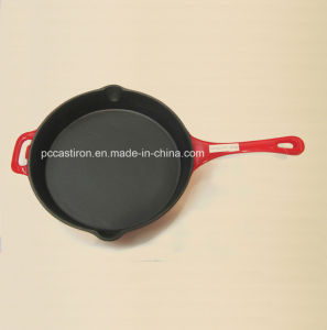 Preseasoned Enamel Cast Iron Frypan Dia 24cm pictures & photos