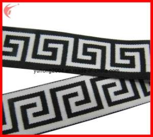 White & Black Elastic Webbing for Garment (YH-ET051) pictures & photos
