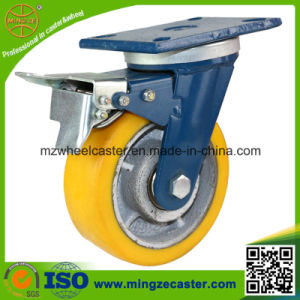 Heavy Duty Industrial Swivel Caster with Double Brake pictures & photos