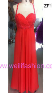 Long Applique Beading Chiffon Evening Dresses