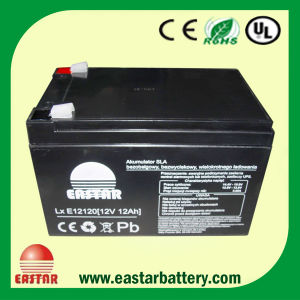 CE Approval Lead Acid Battery UPS Battery 12V12ah (EA12-12) pictures & photos