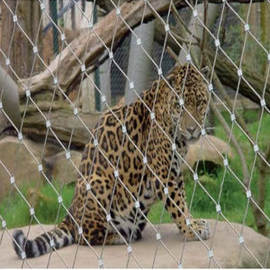 Leopard Enclosure Mesh/Stainless Steel Wire Rope Mesh/Netting pictures & photos