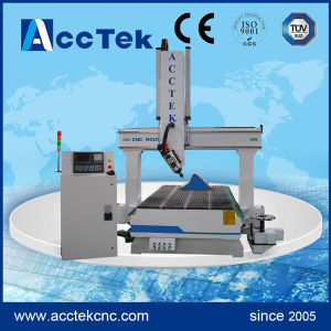 China 4 Axis CNC Router with Disc Auto Tool Changer