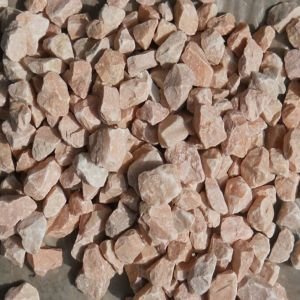 Natural Tumbled Chinese Pink Granite Gavel, Paving Pebbles pictures & photos